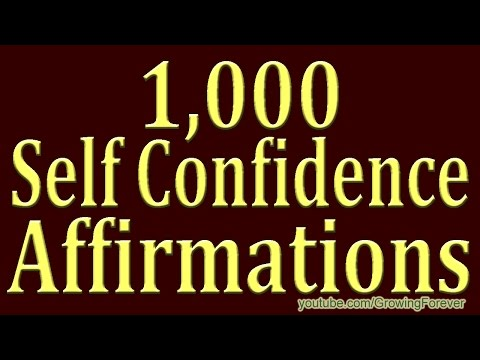 1,000 ★POWERFUL★ Self Confidence Affirmations - Get Success And Self Esteem Affirmation Video 2