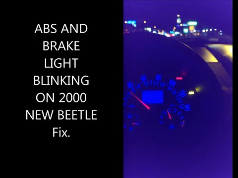ABS BRAKE BLINKING CONSTANT BEEPING 2000 NEW BEETLE FIX!!