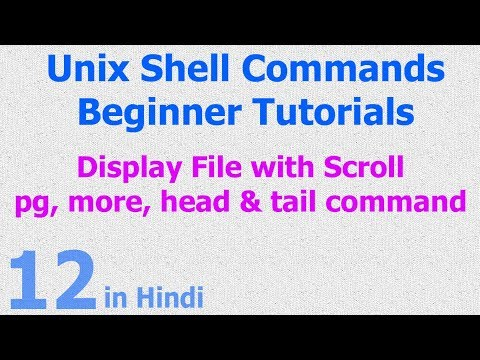 12 - Unix | Linux Shell - Display File - PG | More | Head | Tail Commands