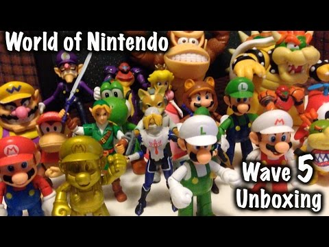 Unboxing Wave 5  of World of Nintendo Action Figures