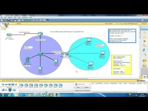 Configure Wireless Linksys Routers in packet tracer