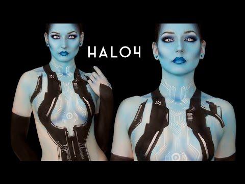 CORTANA Halo 4 Body Paint Tutorial