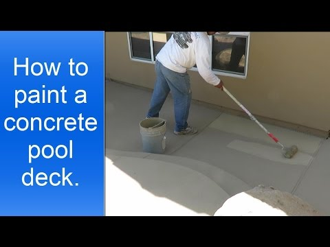 How to paint a concrete pool deck.