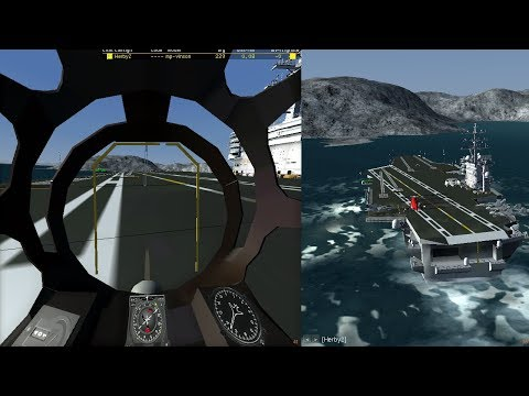 FlightGear Aircraft carrier madness with Mi-6PS