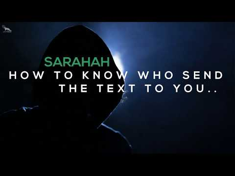 Sarahah HACK.. Who is texting you on sarahah.. with prove.