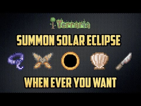 Terraria Console 1.2.4 | How to Summon a Solar Eclipse Whenever you Want! (Console and PC Only)
