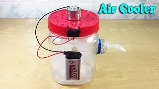 How to Make Air Conditioner at Home Using DC Motor - Air Cooler Life Hacks