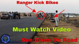 Ranger Hits Bikes And Riders On Do Darya Track Must Watch Full Video