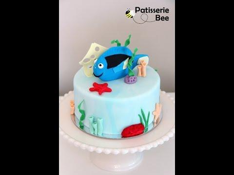 Dory fish, cake decorating tutorial