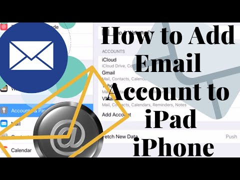 How to add email account in iPad or iPhone.