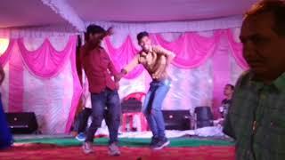 Bhojpuri Actor Virendra Bharti Ke Sath Live Show Me Dance Karate Huye Abhishek Bhai