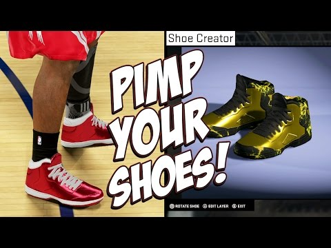 NBA 2K15 MyCareer - How To Spice Up Your Shoes Before Official Shoe Endorsements - Tutorial!