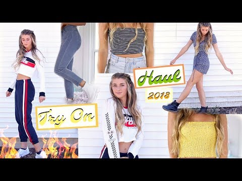 Huge TRY ON Clothing HAUL 2018! Brandy Melville, Forever 21, Princess Polly & More!
