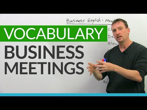 Professional English Vocabulary: Meetings