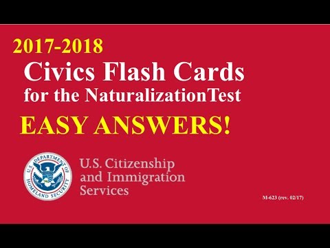 Easy Answer Civics Questions for U.S. Citizenship Test