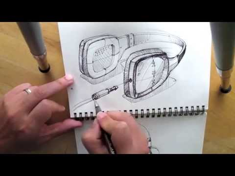 How to draw Headphone, Product Design Sketching.
