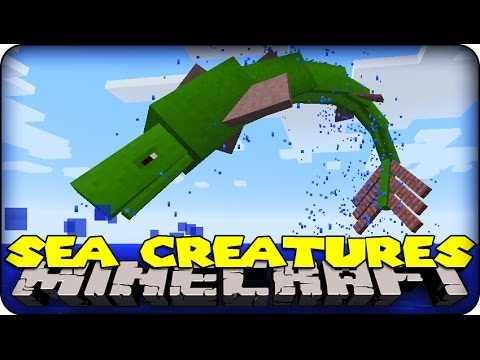 Minecraft Mods - EPIC SEA MONSTERS ( Aquatic Abyss Mod Showcase)