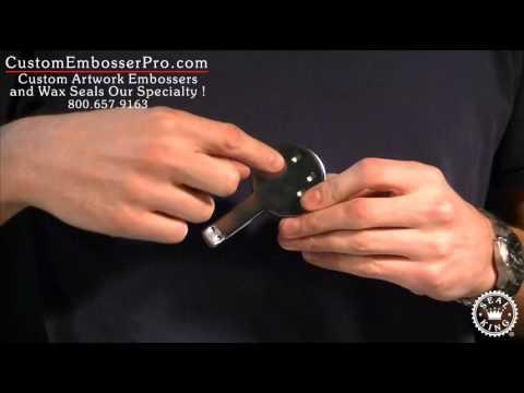 Custom Embosser Pro: How To Install a Standard Desk Press Embosser Clip