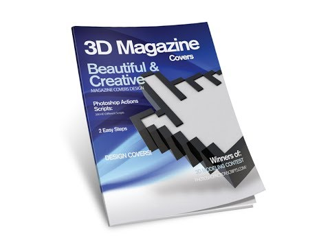 3D Magazine Cover Template for Photoshop [Tutorial]