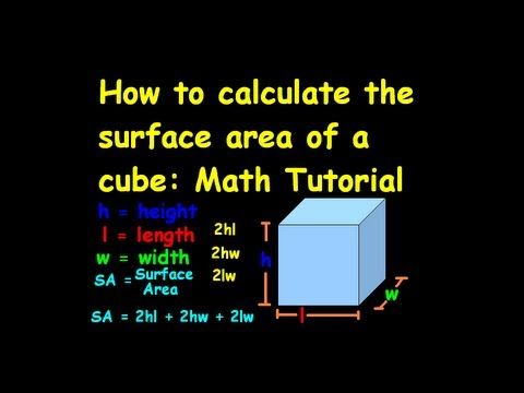 How to calculate the surface area of a cube-Math Tutorial.