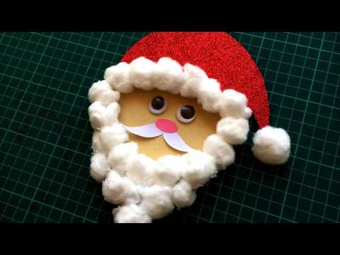 Santa's Face from Waste CD | Preschool Craft | Fun Craft for Kids