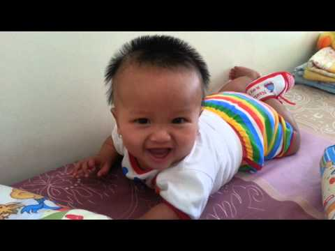 funny baby learn to speak