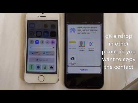 how to transfer contacts without icloud backup from iphone to iphone | 100 % work