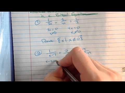 Determine the Domain of a Variable in a Rational Equation