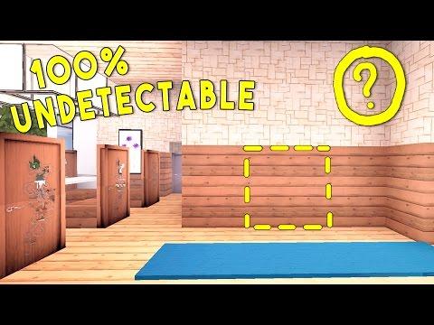 100% UNDETECTABLE REDSTONE DOOR (Redstone Base Entrance/Minecraft Redstone Tutorial)