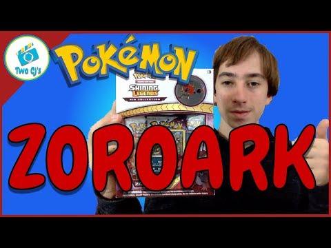 Opening Pokemon Shining Legends Zoroark Pin Set