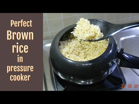 How to cook perfect Brown rice in pressure cooker | Brown Rice Recipe | Rice recipe | KabitasKitchen