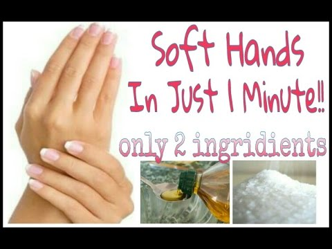 SOFT HANDS.  Soft Palms in Just 1 min with only 2 Ingredients.