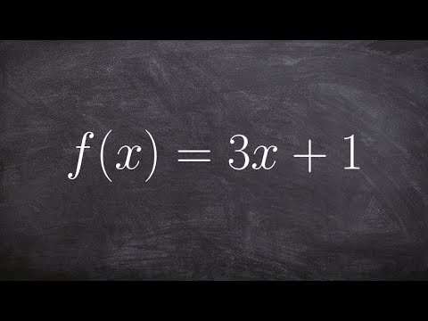 How to find the inverse of a linear function