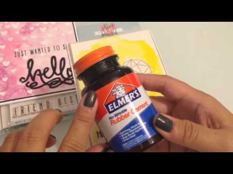 Neat & Tangled and masking with rubber Cement