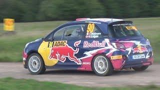 Opel Adam R2 FLAT OUT at WRC Rallye Deutschland - Huttunen, Molinaro, Van Der Marel!