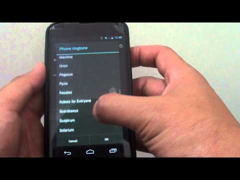 Google Nexus 4: How to Change the Ringtone