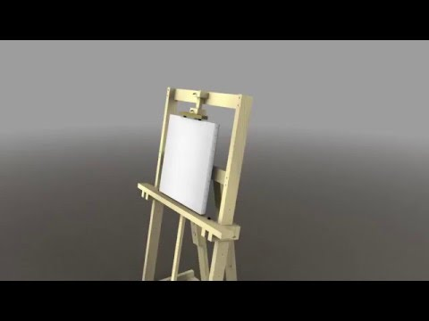 painting easel spin up with canvas