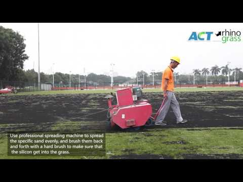 FIFA Certified Synthetic Grass Soccer Pitch Installation