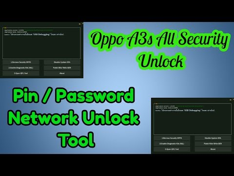 Oppo A3s All Security Unlock Pin Password Network Unlock