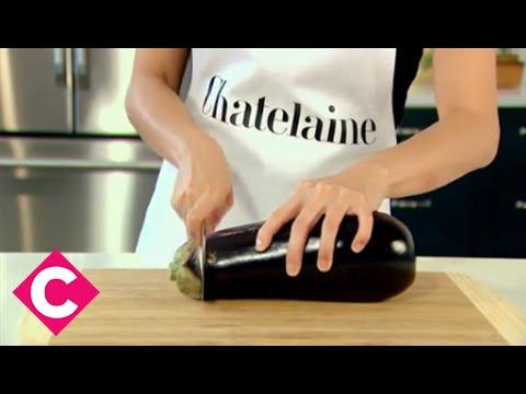 The best way to slice eggplant