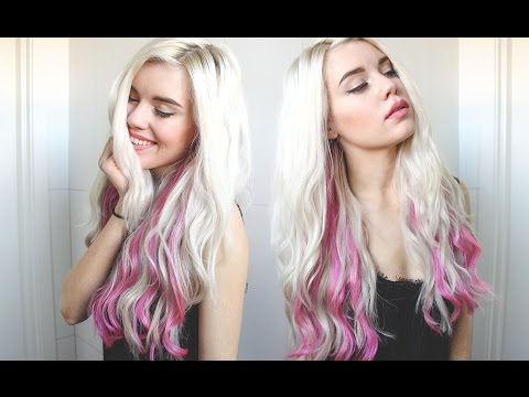 Blonde and Pink hair tutorial & VP Fashion Extensions Review!