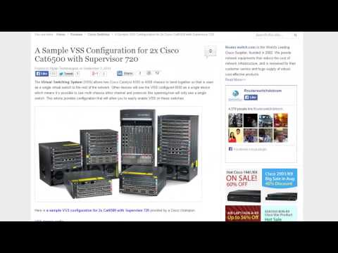 VSS Configuration for 2x Cisco Cat6500 witch Supervisor 720