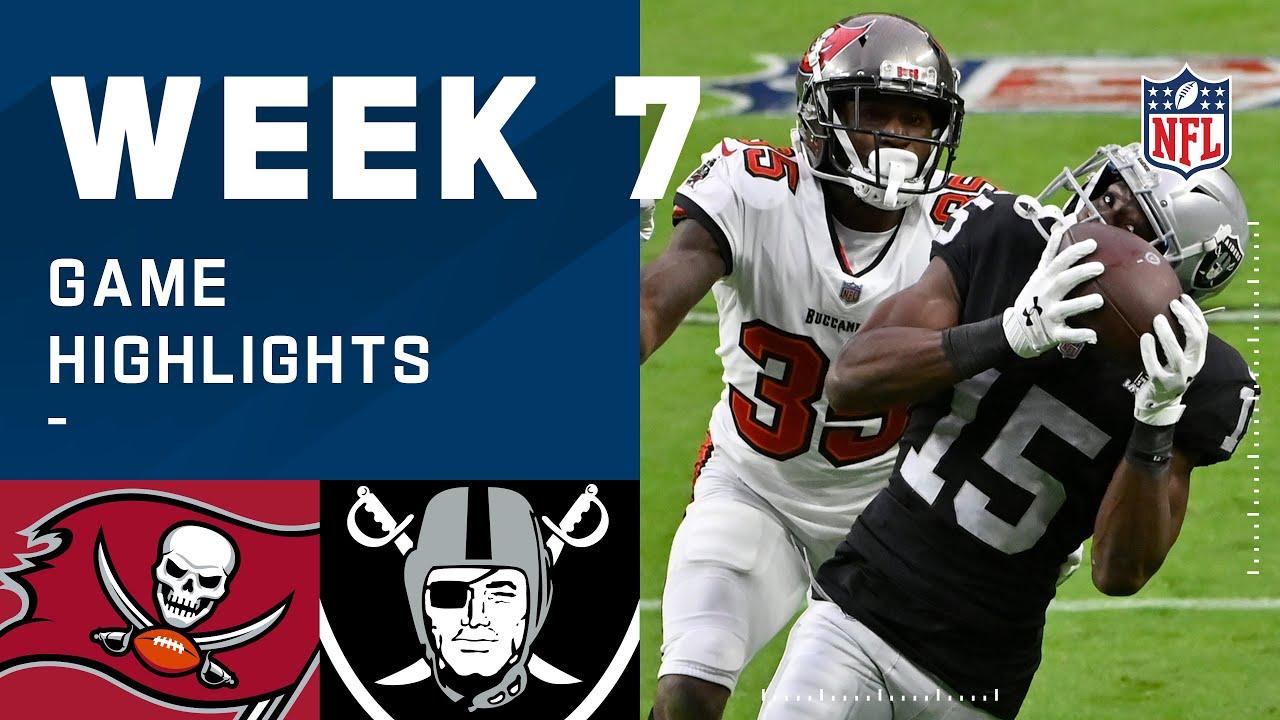 Buccaneers vs. Raiders Week 7 Highlights | NFL 2020