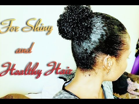 Shiny, Healthy Hair  Oil Treatment