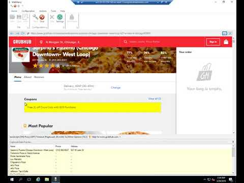 Grubhub.com data extraction using WebHarvy