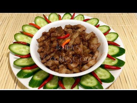 THỊT XÀO MẮM RUỐC - Pork Stew With Vietnamese Fermented Shrimp Paste and Lemongras - Mắm Ruốc Xào Sả