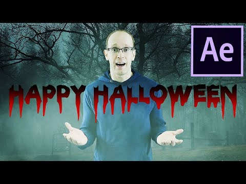 DRIPPING BLOOD Halloween Horror Title - After Effects Tutorial