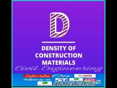 Density of construction materials