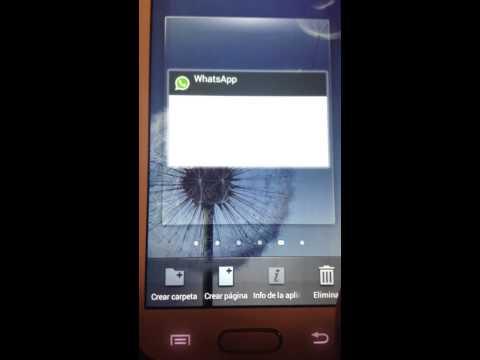 Widget Whatsapp en galaxy s dúos