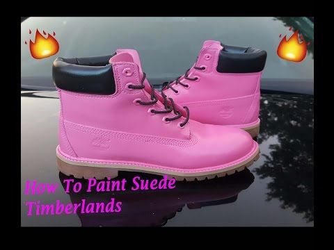 How To Paint Suede Timberlands !!! Customize Angelus